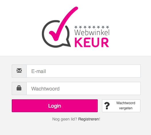 Inloggen op WebwinkelKeur