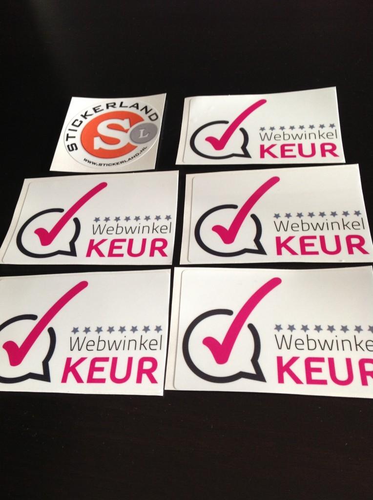 De WebwinkelKeur Sticker