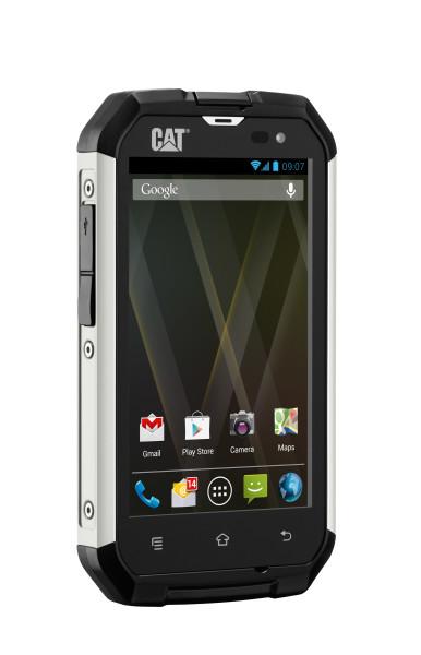 Een voorbeeld van een CAT telefoon uit het assortiment van PhoneBucks.