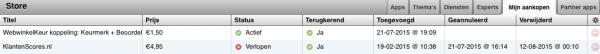 Schakel de klantenscores APP uit in de Appstore