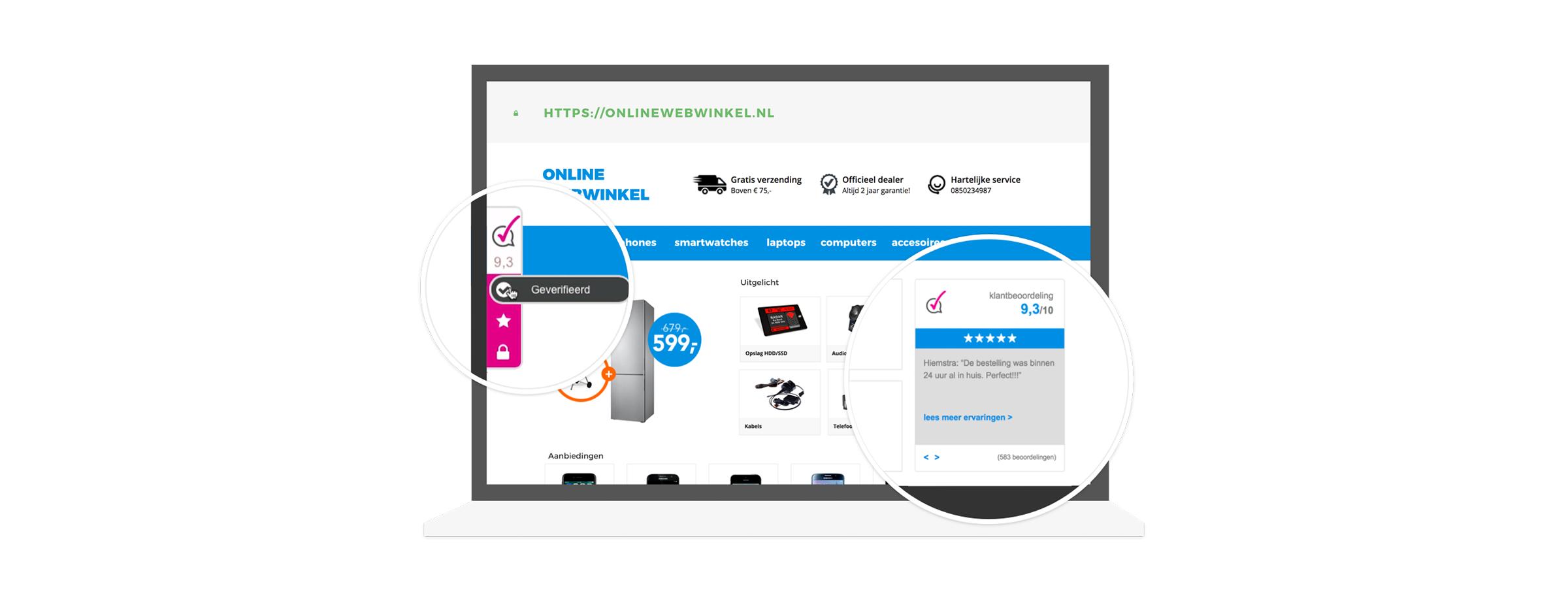 b385a8ce0b5 Webwinkel Keurmerk + Klantbeoordelingen €8,95 p/m
