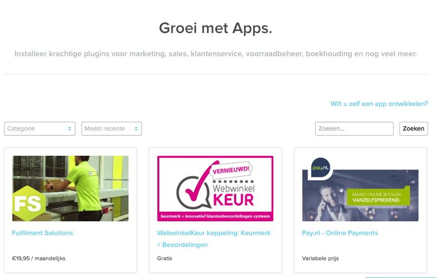 WebwinkelKeur is beschikbaar via de SEOshop APP store