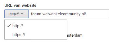 Verander de url ook binnen Google Analytics