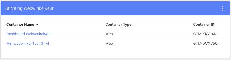 Kies de juist container