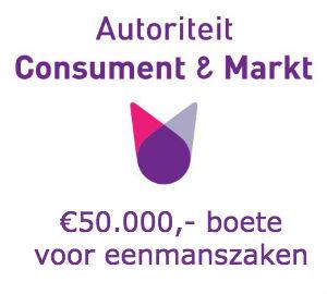 Boetes van 50.000 euro voor eenmanszaken