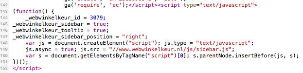 Sidebar code WebwinkelKeur zonder extra instellingen