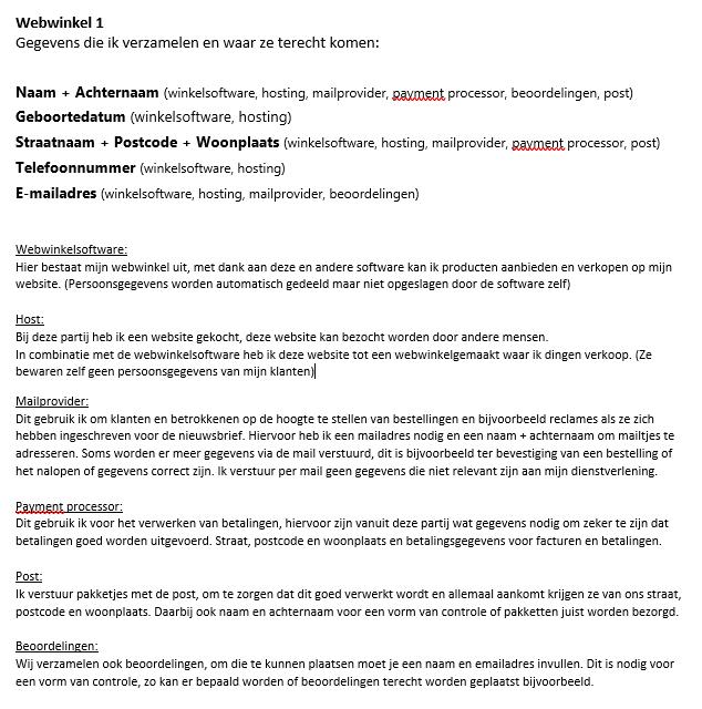 stappenplan GDPR/AVG