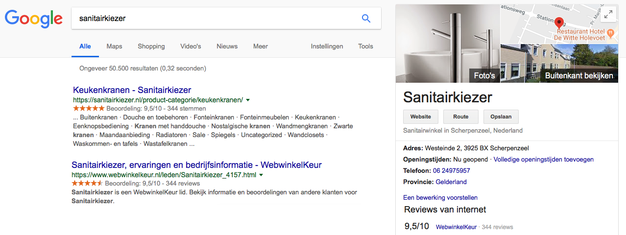 Reviews in Google Business