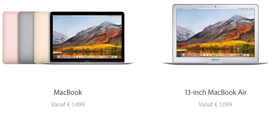 Voorbeeld Apple prijzen