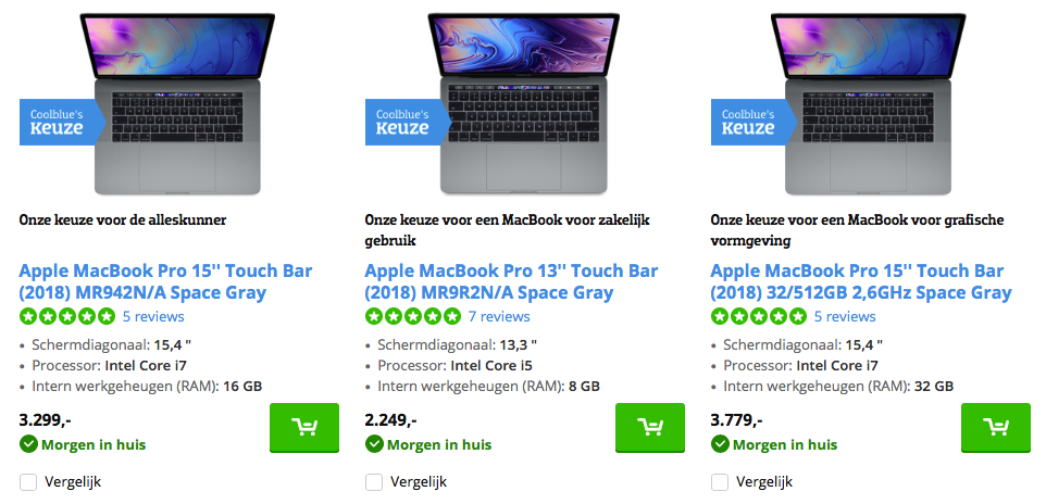 Voorbeeld CoolBlue Macbook