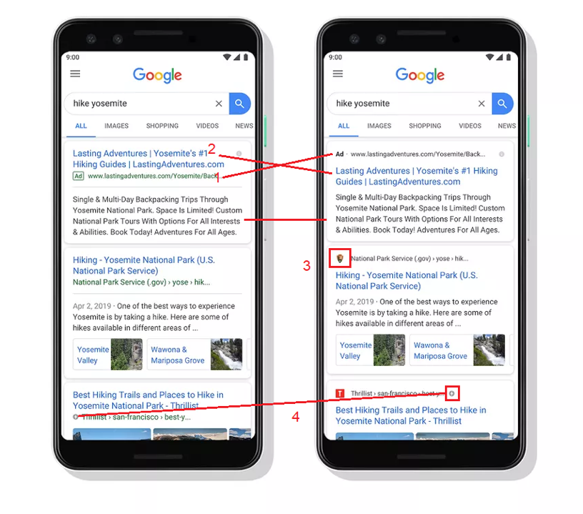 verandering google mobiele zoekresultaten