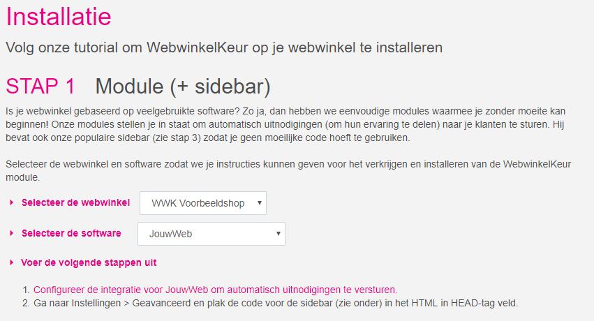 jouwweb integratie webwinkelkeur 1