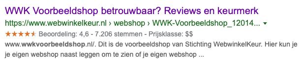 Google Sterren bij de Ledenpagina