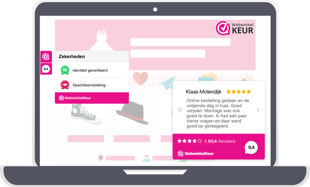 keurmerk en reviews van webwinkelkeur