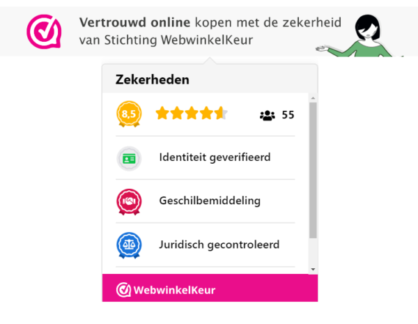 tooltip webwinkelkeur voor webshop