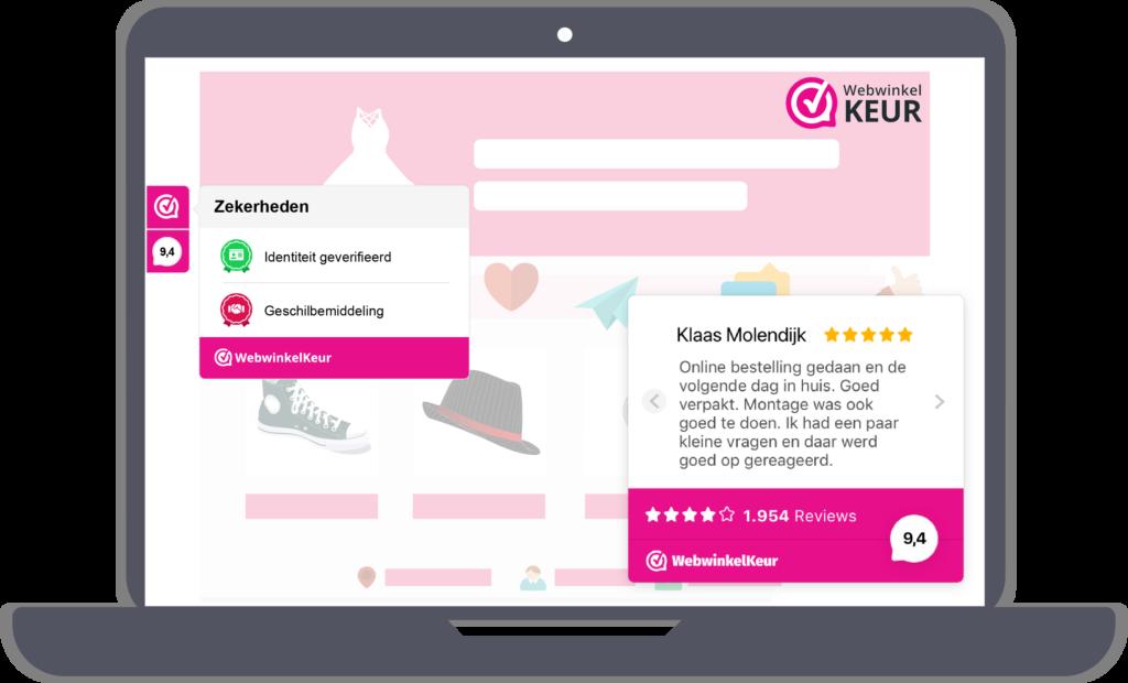 webshop met reviews van webwinkelkeur